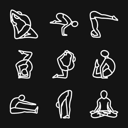 Yoga Fitness icône vecteur signe symbole