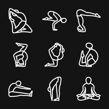 Yoga Fitness Icon vector sign symbol
