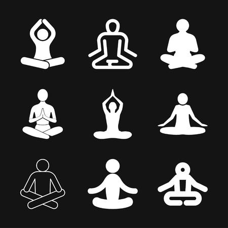 Yoga Fitness Icon vector sign symbol