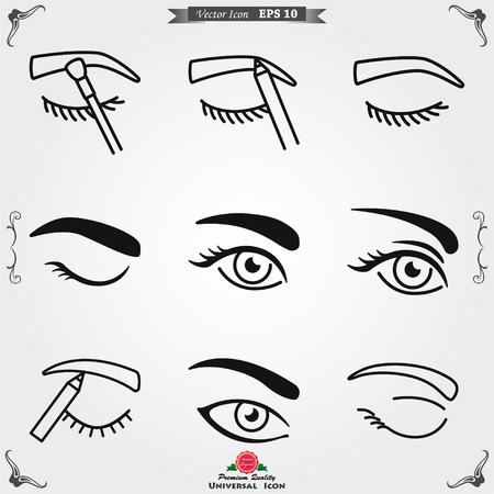 Eyebrow icon. Eyebrow tattoo. logo, illustration, vector sign symbol for design Иллюстрация
