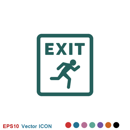 The exit icon. Logout and output logo, illustration, vector sign symbol for design