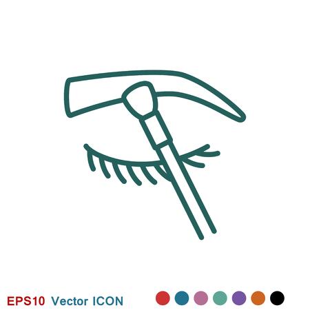 Eyebrow icon. Eyebrow tattoo. logo, illustration, vector sign symbol for design