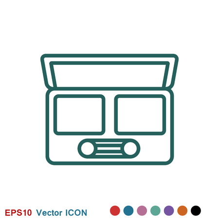 Eyeshadow icon logo, illustration, vector sign symbol for design Stock Illustratie