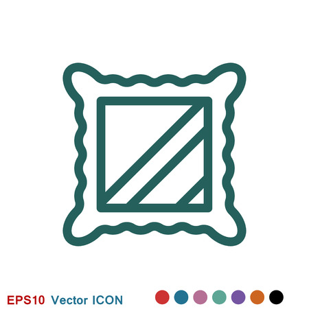 Frame icon vector, frame icon for web and app logo, illustration, vector sign symbol for design Stok Fotoğraf - 124359717