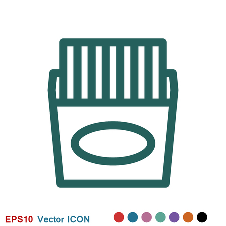 French fries icon. Vector concept illustration for design. Illustration