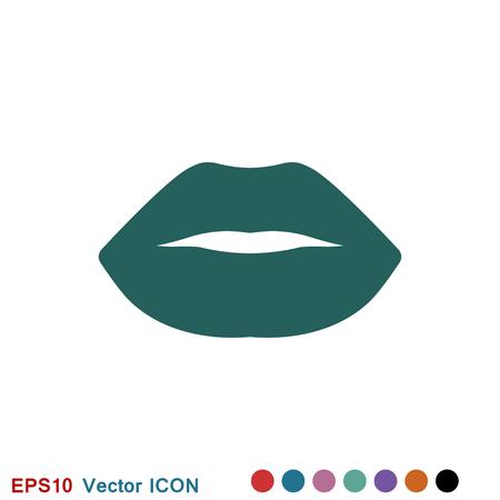 Lips icon, kiss icon logo, vector sign symbol for design