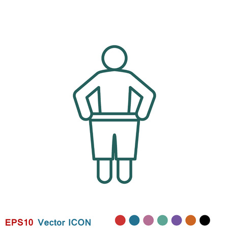 Weight loss icon logo, vector sign symbol for design