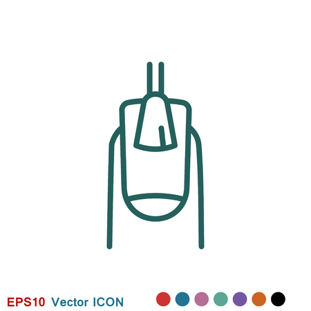 Manicure icon logo, vector sign symbol for design Archivio Fotografico - 124361540