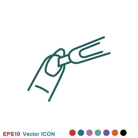 Manicure icon logo, vector sign symbol for design