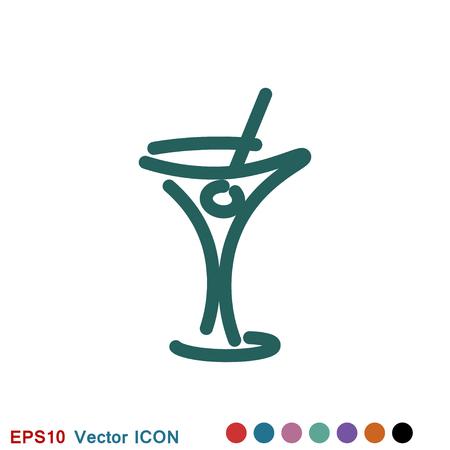 Martini icon logo, vector sign symbol for design Illustration