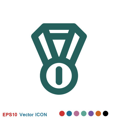 Medal icon, Medal symbol for your web site