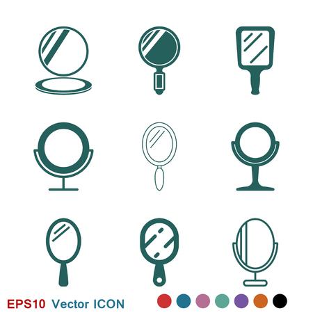 Mirror Icon logo, vector sign symbol for design