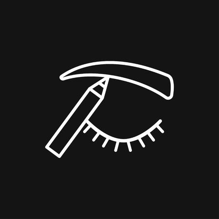 Eyebrow icon. Eyebrow tattoo. logo, illustration, vector sign symbol for design Ilustração