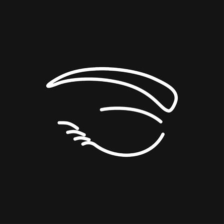 Eyebrow icon. Eyebrow tattoo. logo, illustration, vector sign symbol for design 矢量图像