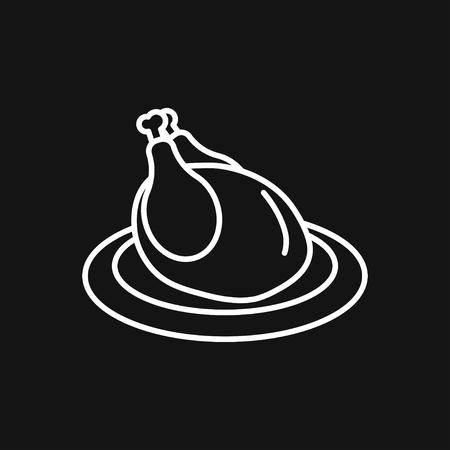 Food icon logo, illustration, vector sign symbol for design