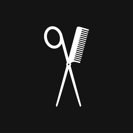 Barber icon vector sign symbol for design 일러스트