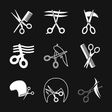 Barber icon vector sign symbol for design Illustration