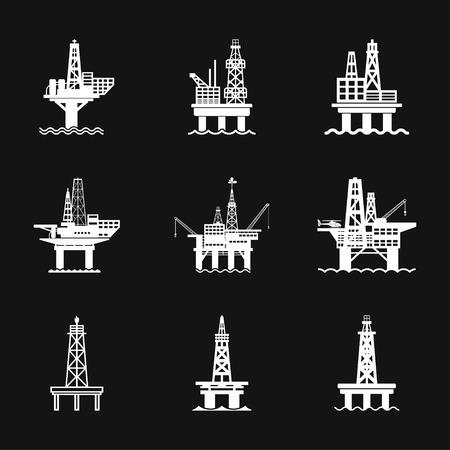 Oil platform iconfuel production logo, vector sign symbol for design Illustration