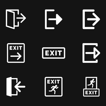 The exit icon. Logout and output logo, illustration, vector sign symbol for design Logo