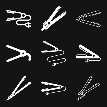 Hair straighten icon. Icons for mobile concept and web