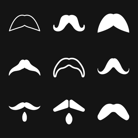 Mustache icon logo, vector sign symbol for design