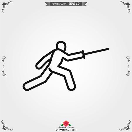 Athlete icon isolated on background vector illustration, sign design Illustration
