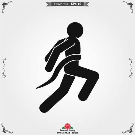 Athlete icon isolated on background vector illustration, sign design Vettoriali