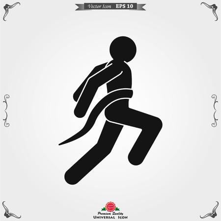 Athlete icon isolated on background vector illustration, sign design Illusztráció