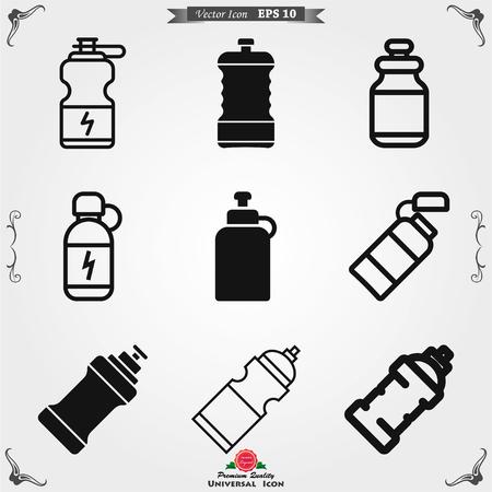 Bottle icon flat sign for mobile concept and web design. Drink Bottle for fitness solid icon. Symbol, logo illustration