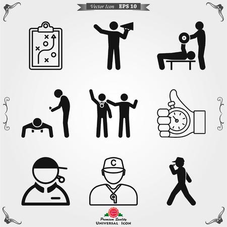 Trainersymbolvektor, Trainings- und Mentoringsymbol
