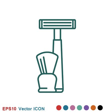 Barber icon vector, salon hair dryer, hair curler for web and mobile