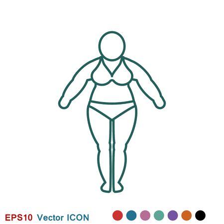 Body icon, concept illustration for Web site. Sign, symbol, element. Illustration