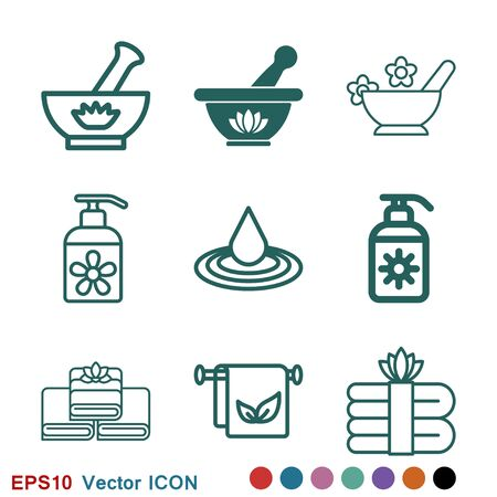 Aromatherapy icon. Concept illustration for web site. Sign, symbol, element. Vectores