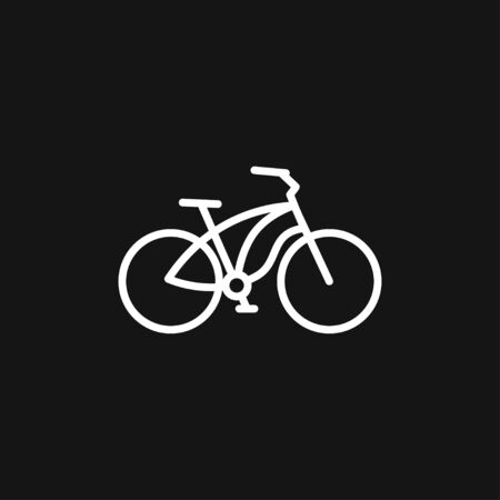 Bicycle icon vector, flat element for illustration on background.