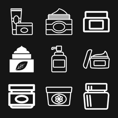 Face cream vector icon. Cosmetic cream sign. Flat illustration Archivio Fotografico - 125156275