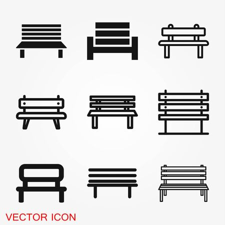 Work bench icon. Simple illustration of work bench vector icon Illustration