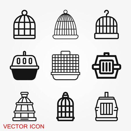 Bird cage icon for your design, logo. Vector illustration. Editable Stroke.