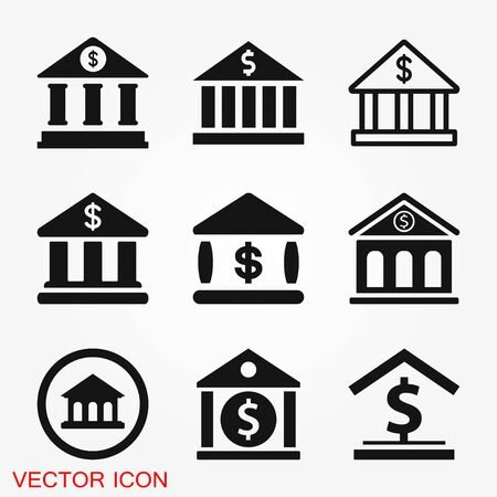 Bank icon design template.