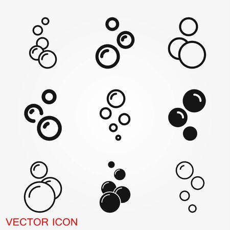 Bubble icon isolated on background. Soap or water icon Vector art. Ilustração