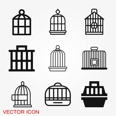Bird cage icon for your design. Vector illustration. Editable Stroke. Stock fotó - 127643595