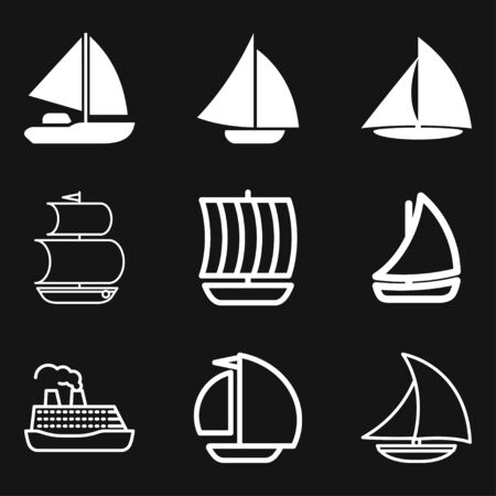 Boat icon vector in trendy flat style isolated on white background. boat icon image, boat icon illustration