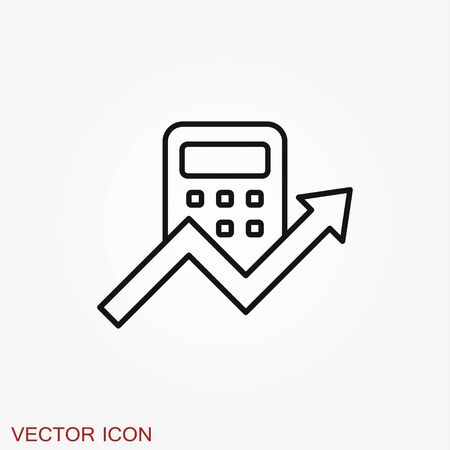 Budget, accounting vector icon. Business and financial symbol Ilustracja