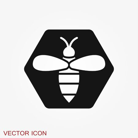 Honey bee icon. Farm animal sign. Graph symbol for your web site design, app, UI. Vector illustration 일러스트