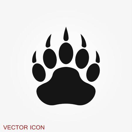 Icono de oso. Ilustración del concepto de vector para el diseño aislado en el fondo