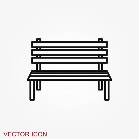 Work bench icon. Simple illustration of work bench vector icon isolated on background Ilustração