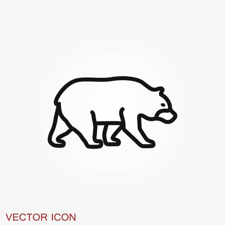 Bear icon. Vector concept illustration for design isolated on background