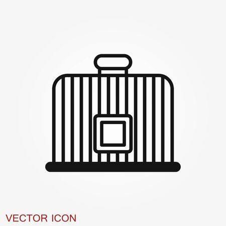 Bird cage icon for your design. Vector illustration. Editable Stroke.