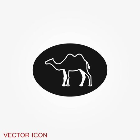 Camel icon. Vector symbol African animal for web and design.