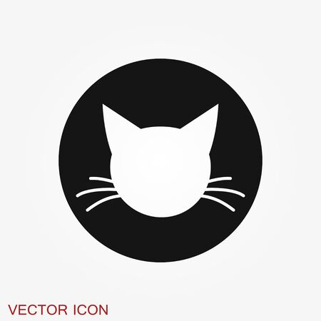 Cat icon.  design vector template Flat style.Home pet veterinary clinic store  concept icon Vectores