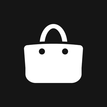 Shopping bag icon vector. Flat design style on background.